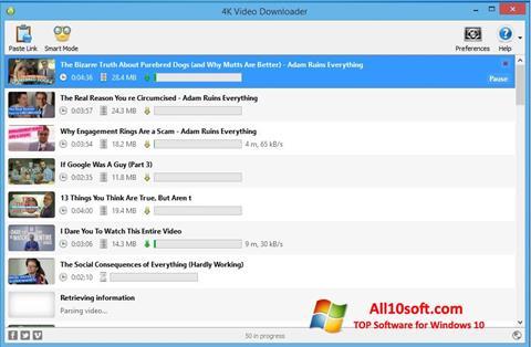 Ekran görüntüsü 4K Video Downloader Windows 10