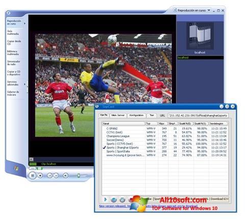 Ekran görüntüsü SopCast Windows 10