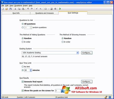 Ekran görüntüsü easyQuizzy Windows 10