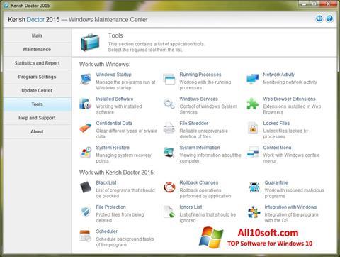 Ekran görüntüsü Kerish Doctor Windows 10
