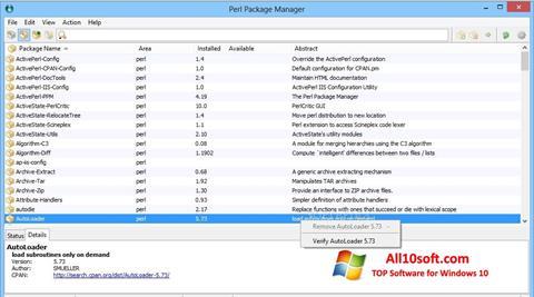 Ekran görüntüsü ActivePerl Windows 10