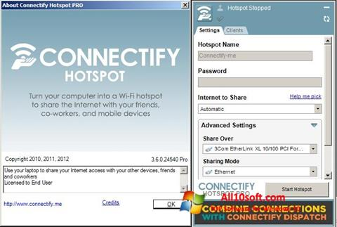 Ekran görüntüsü Connectify Hotspot Windows 10