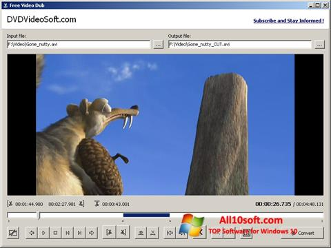 Ekran görüntüsü Free Video Dub Windows 10