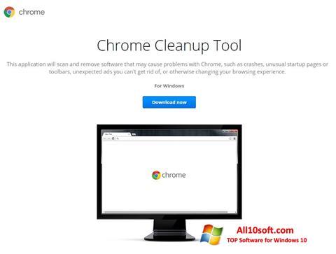 Ekran görüntüsü Chrome Cleanup Tool Windows 10
