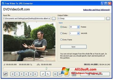 Ekran görüntüsü Free Video to JPG Converter Windows 10