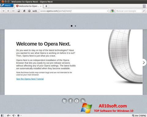 Ekran görüntüsü Opera Developer Windows 10