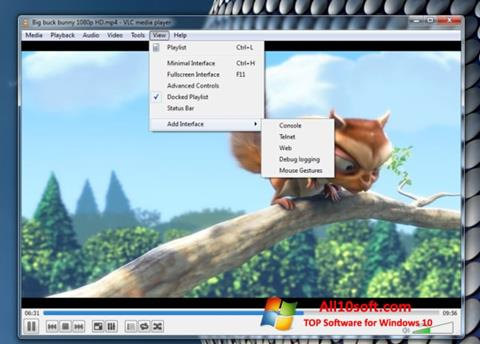 Ekran görüntüsü VLC Media Player Windows 10