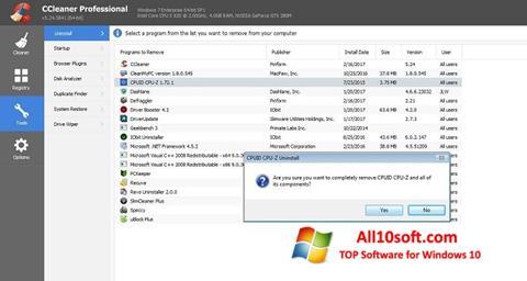 Ekran görüntüsü CCleaner Professional Plus Windows 10