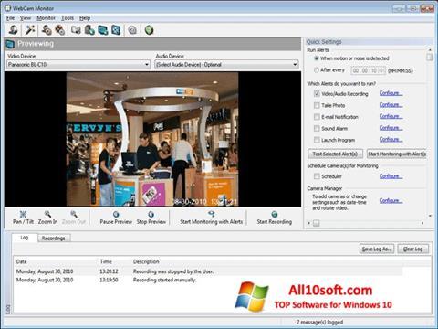 Ekran görüntüsü WebCam Monitor Windows 10