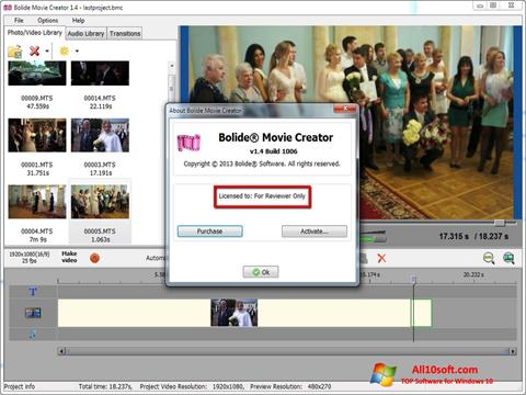 Ekran görüntüsü Bolide Movie Creator Windows 10