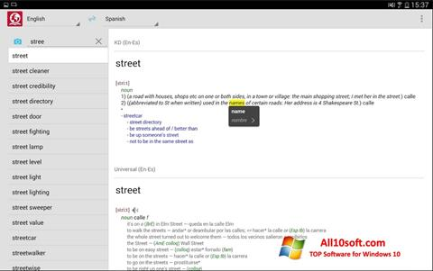 Ekran görüntüsü ABBYY Lingvo Windows 10