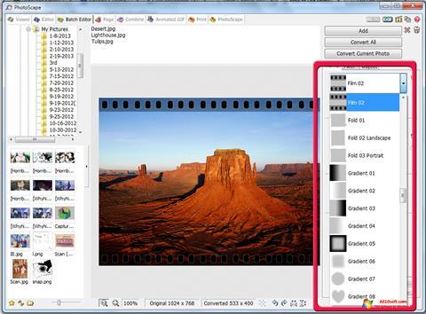 Ekran görüntüsü PhotoScape Windows 10