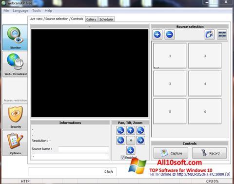 Ekran görüntüsü webcamXP Windows 10