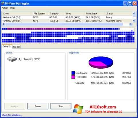 Ekran görüntüsü Defraggler Windows 10