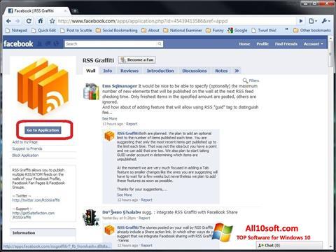 Ekran görüntüsü Facebook Windows 10