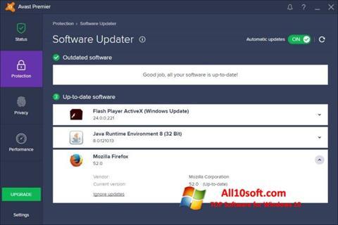 Ekran görüntüsü Avast Premier Windows 10