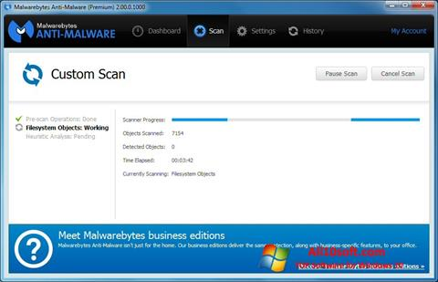 Ekran görüntüsü Malwarebytes Anti-Malware Free Windows 10