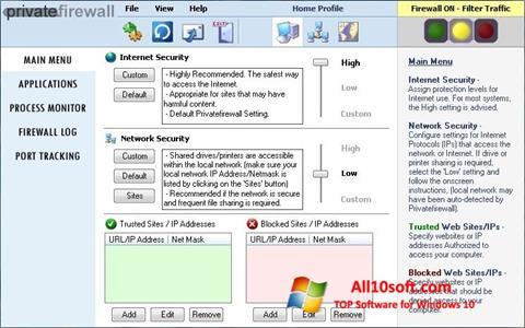 Ekran görüntüsü Privatefirewall Windows 10