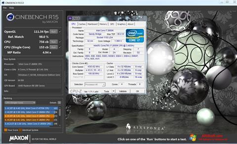 Ekran görüntüsü CINEBENCH Windows 10
