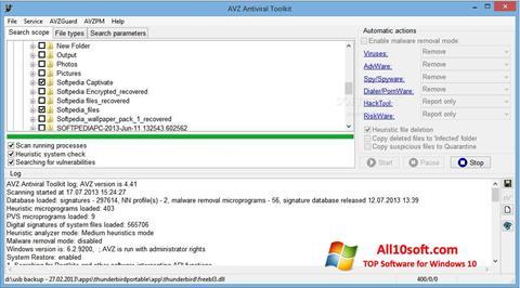 Ekran görüntüsü AVZ Windows 10