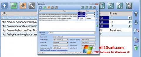 Ekran görüntüsü VideoGet Windows 10