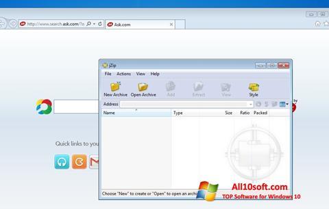 Ekran görüntüsü jZip Windows 10