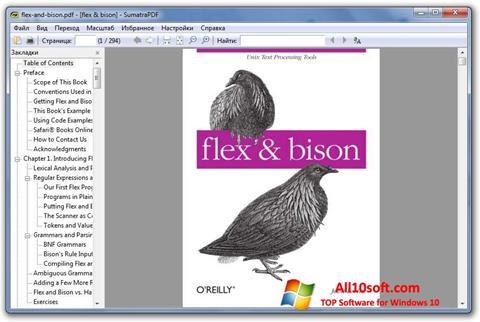 Ekran görüntüsü Sumatra PDF Windows 10