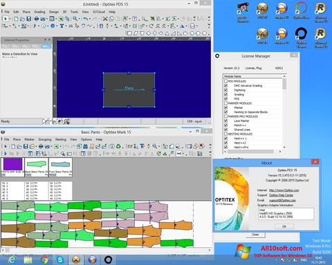 Ekran görüntüsü OptiTex Windows 10
