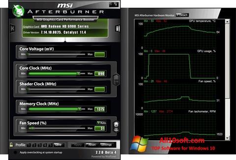 Ekran görüntüsü MSI Afterburner Windows 10