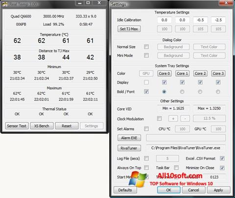 Ekran görüntüsü Real Temp Windows 10