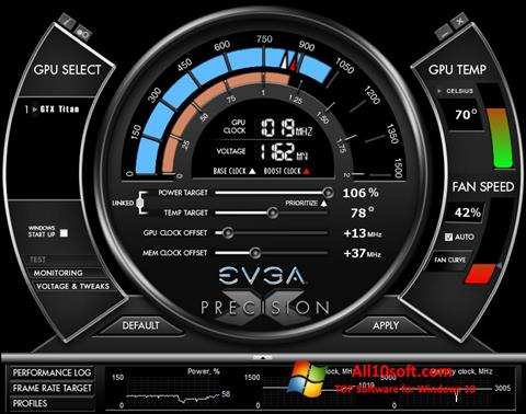 Ekran görüntüsü EVGA Precision X Windows 10
