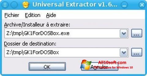 Ekran görüntüsü Universal Extractor Windows 10
