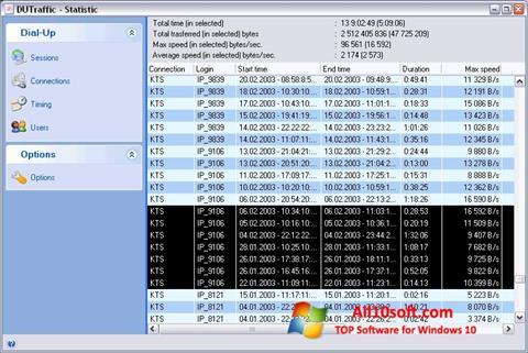 Ekran görüntüsü DUTraffic Windows 10