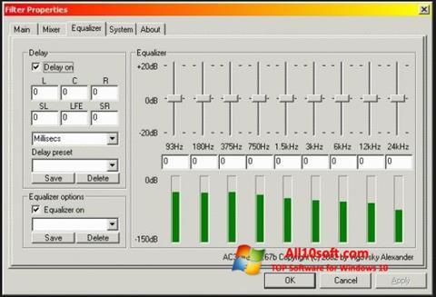 Ekran görüntüsü AC3 Codec Windows 10