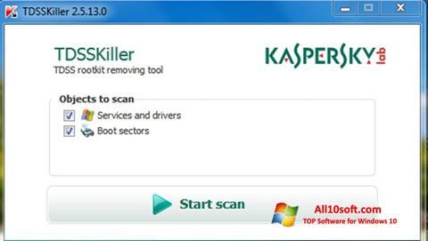 Ekran görüntüsü Kaspersky TDSSKiller Windows 10