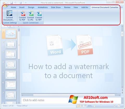Ekran görüntüsü Microsoft PowerPoint Windows 10