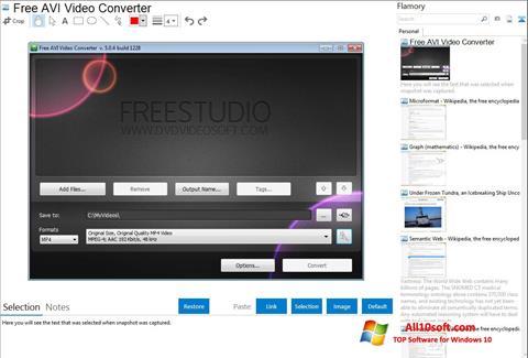 Ekran görüntüsü Free AVI Video Converter Windows 10