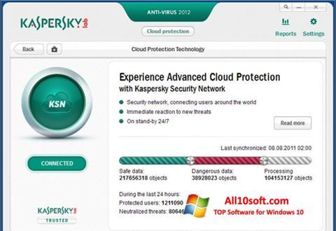 Ekran görüntüsü Kaspersky Free Antivirus Windows 10