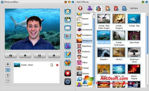 Ekran görüntüsü WebcamMax Windows 10