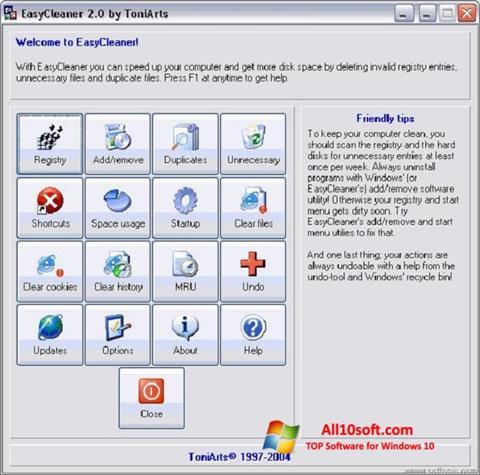 Ekran görüntüsü EasyCleaner Windows 10