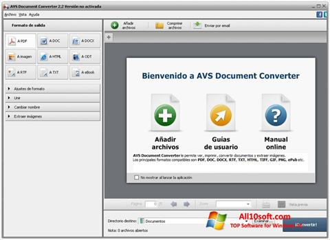 Ekran görüntüsü AVS Document Converter Windows 10