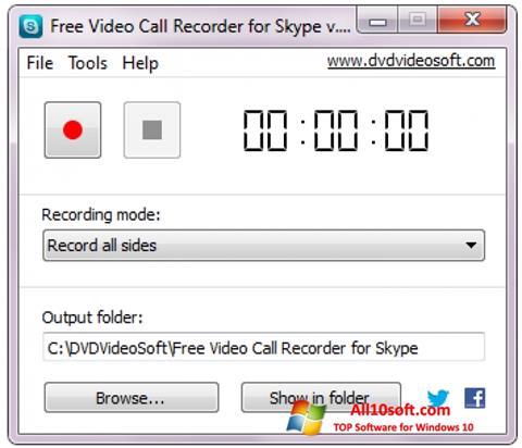 Ekran görüntüsü Free Video Call Recorder for Skype Windows 10
