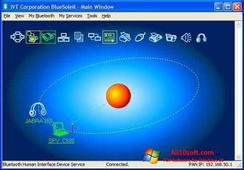 Ekran görüntüsü BlueSoleil Windows 10