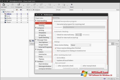 Ekran görüntüsü Claws Mail Windows 10