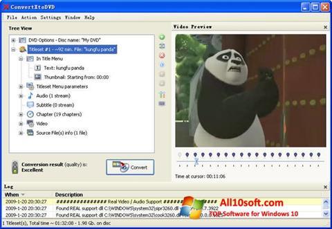 Ekran görüntüsü ConvertXToDVD Windows 10