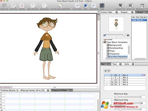 Ekran görüntüsü Toon Boom Studio Windows 10