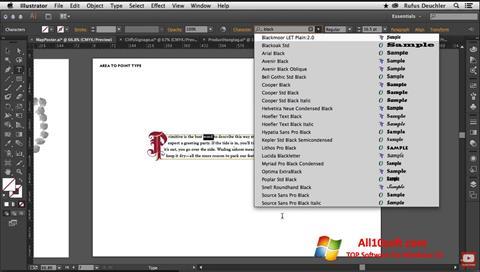 Ekran görüntüsü Adobe Illustrator Windows 10