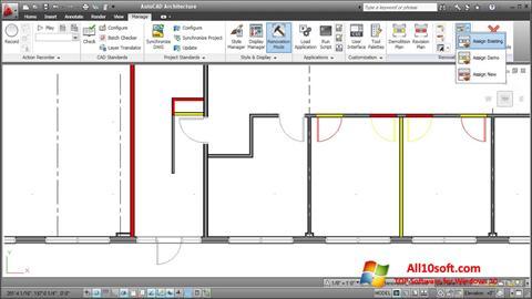 Ekran görüntüsü AutoCAD Architecture Windows 10