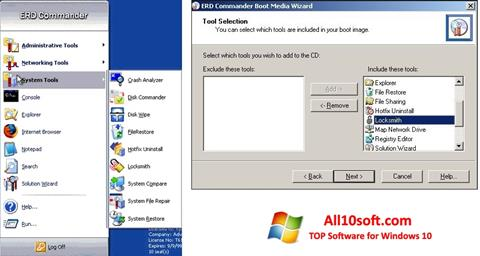 Ekran görüntüsü ERD Commander Windows 10