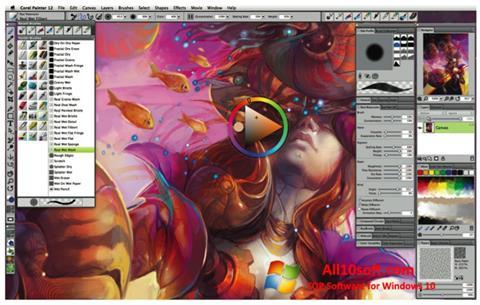 Ekran görüntüsü Corel Painter Windows 10